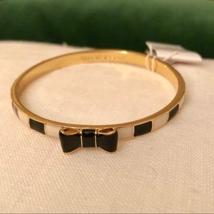 Kate Spade Black and White Bow Bangle